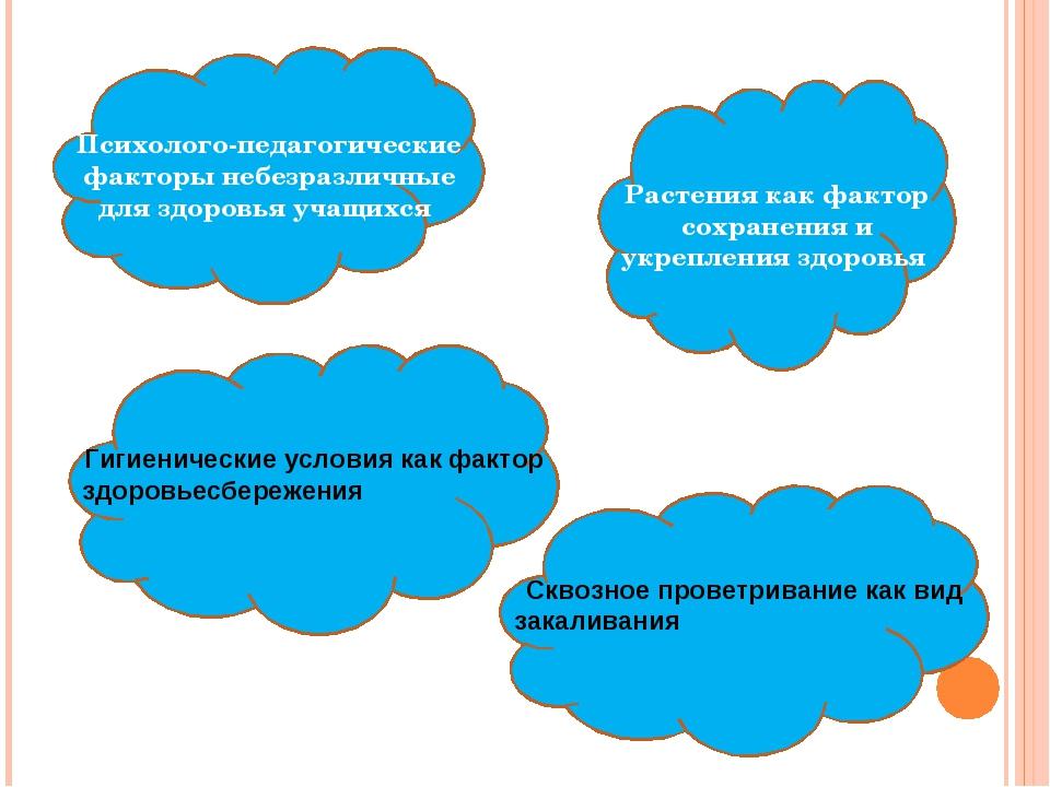 Психолого-педагогические факторы небезразличные для здоровья учащихся Растени...