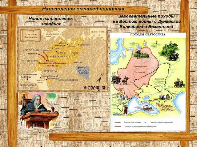 Направления внешней политики Новое направление: западное Завоевательные поход...