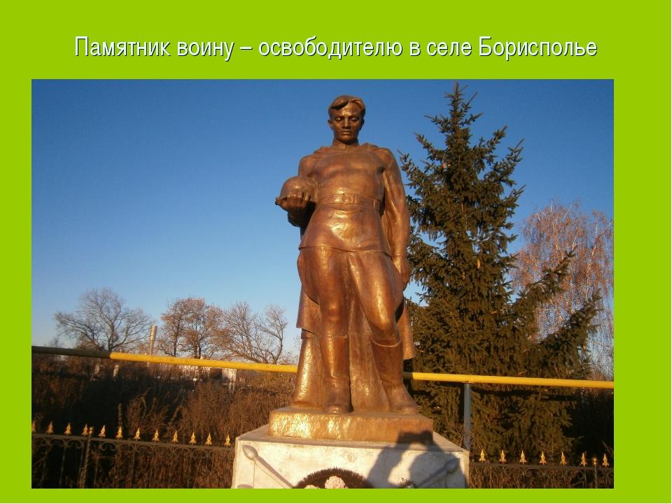 Памятник воину – освободителю в селе Борисполье Памятник