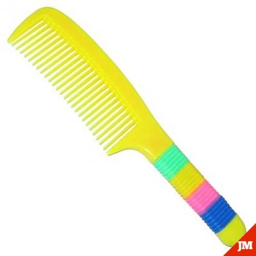 Расческа цветная с наборной ручкой 204С (Мин:24)