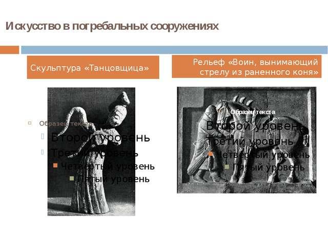 Искусство в погребальных сооружениях Скульптура «Танцовщица» Рельеф «Воин, вы...