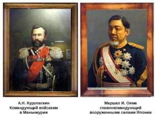 Маршал И. Ояма главнокомандующий вооруженными силами Японии А.Н. Куропаткин К