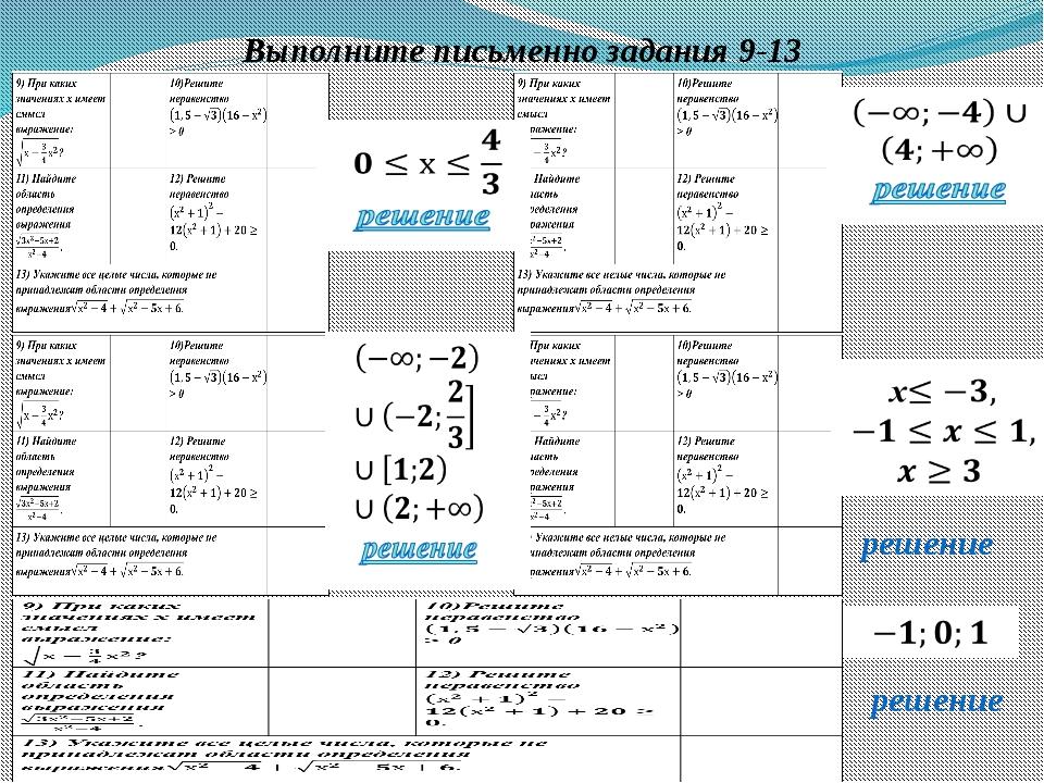 Выполните письменно задания 9-13 решение решение Антонова Г.В.,ГБОУ гимназия...
