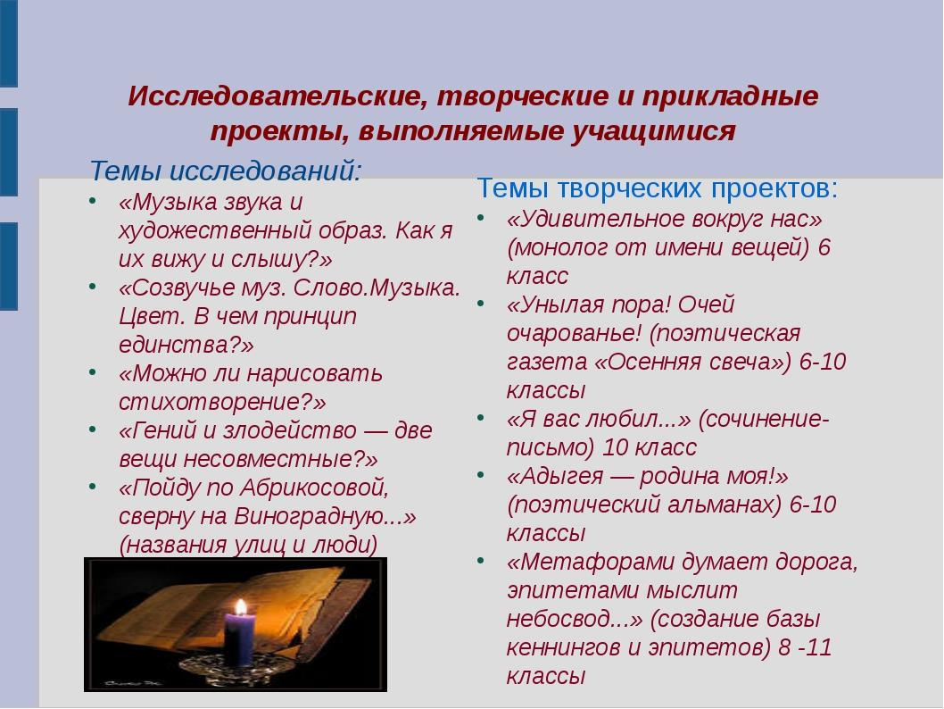 Темы исследований: Темы исследований: «Музыка звука и художественный образ....