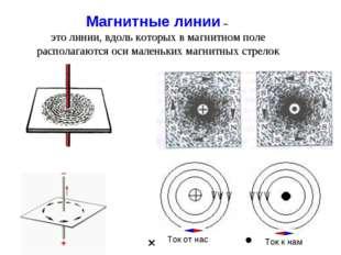 Магнитные линии – это линии, вдоль которых в магнитном поле располагаются оси