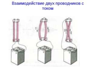 Взаимодействие двух проводников с током