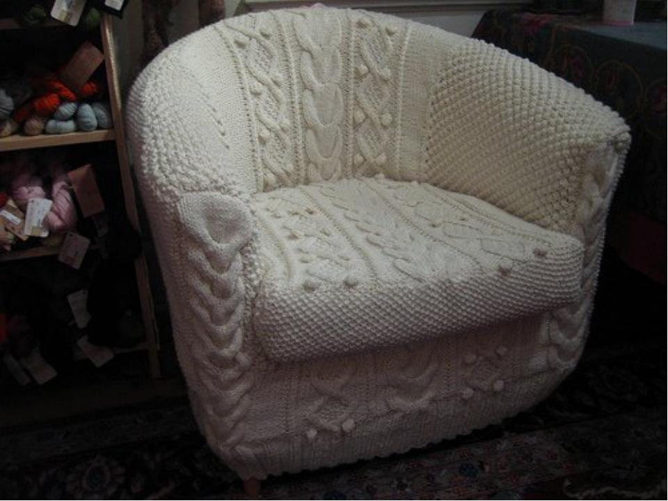 Вязание крючком на диван и кресла - рукоделие мастер класс для