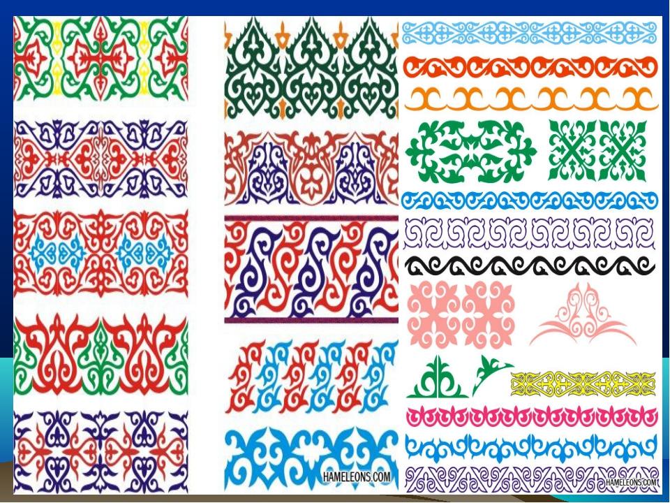 Вышивка казахский орнамент 30