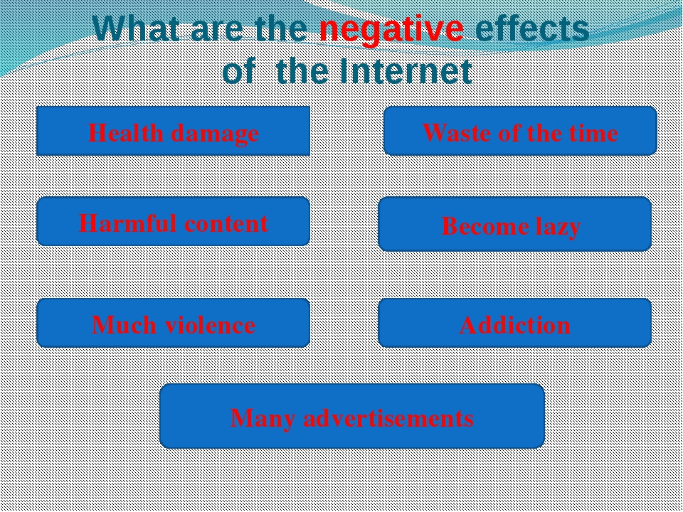 what are the positive and negative effects of internet on education Internet is working as curse for children's the positive or negative effects of any particular thing depend on how we impact of technology on children essay.