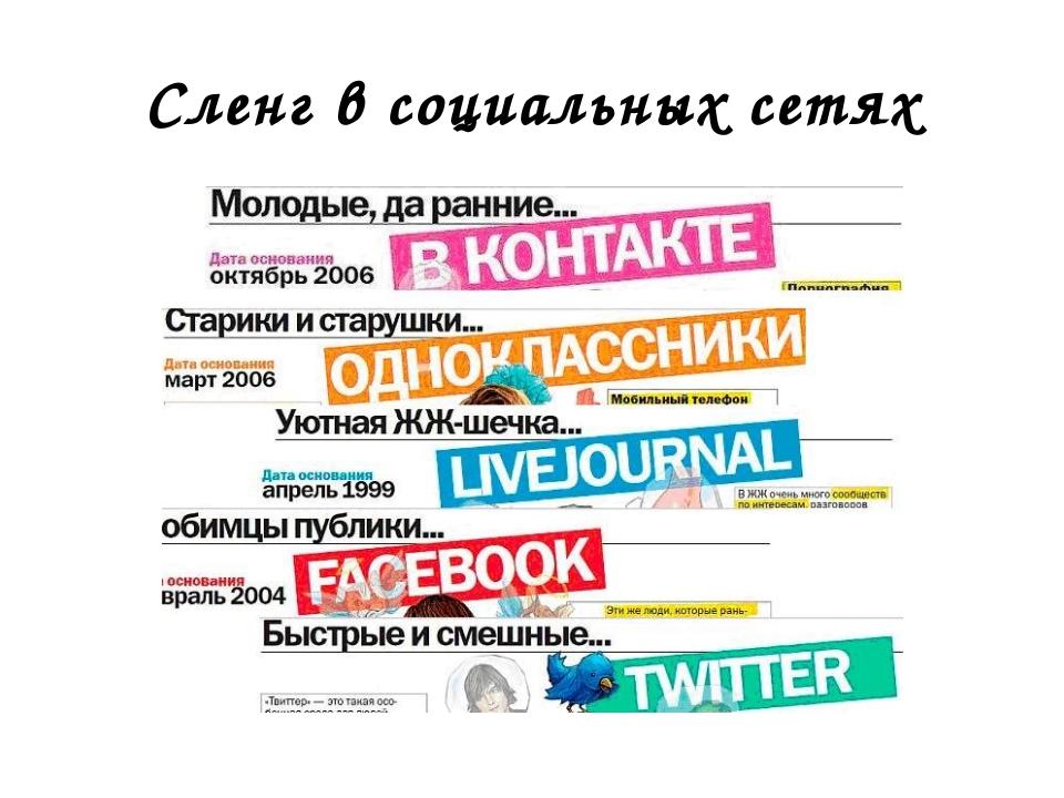 Сленг в социальных сетях