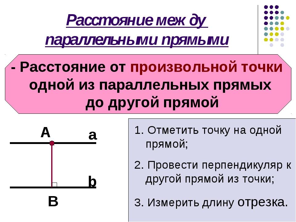 Расстояние между параллельными прямыми - Расстояние от произвольной точки одн...