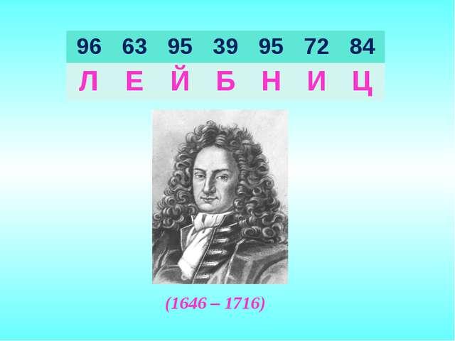 (1646 – 1716) 96639539957284 ЛЕЙБНИЦ