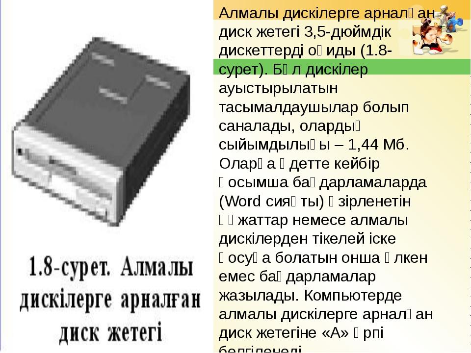 Алмалы дискілерге арналған диск жетегі 3,5-дюймдік дискеттерді оқиды (1.8-сур...