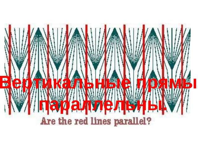 Вертикальные прямые параллельны.