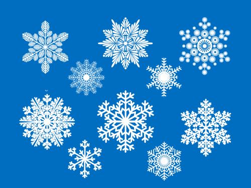 снежинки белые превью