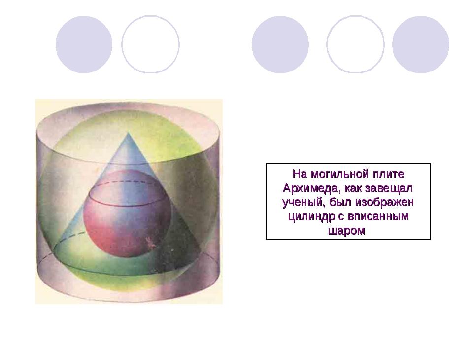На могильной плите Архимеда, как завещал ученый, был изображен цилиндр с впис...