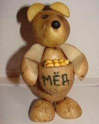 Поделки дары осени из картофеля