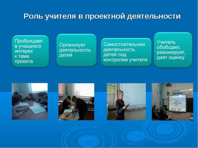 Роль учителя в проектной деятельности