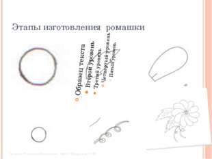 Этапы изготовления ромашки Свяжина Елизавета Максимовна , МБОУ Шугурская СОШ