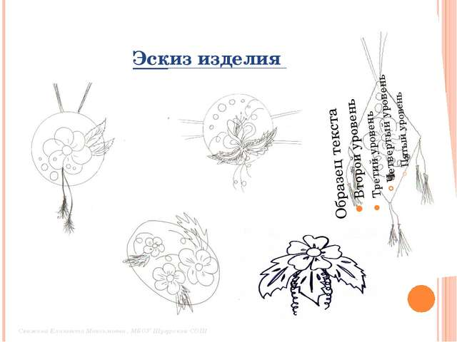 Эскиз изделия Свяжина Елизавета Максимовна , МБОУ Шугурская СОШ