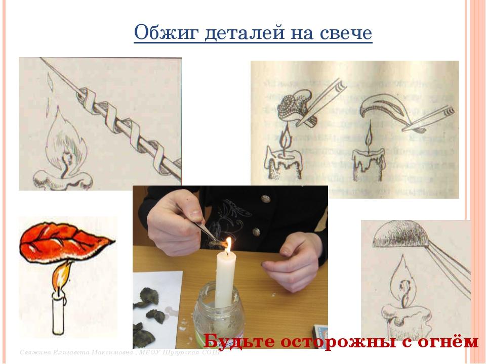 Обжиг деталей на свече Будьте осторожны с огнём Свяжина Елизавета Максимовна...