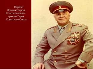 Портрет Жукова Георгия Константиновича, трижды Героя Советского Союза 8