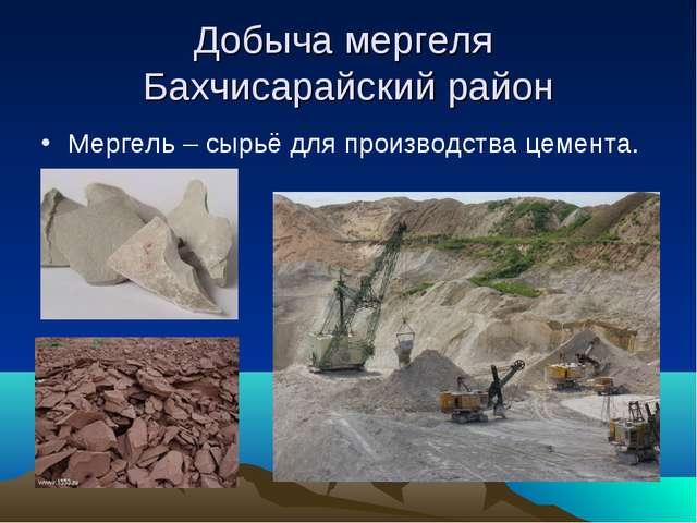 Добыча мергеля Бахчисарайский район Мергель – сырьё для производства цемента.