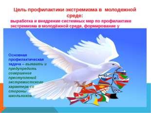 Цель профилактики экстремизма в молодежной среде: выработка и внедрение систе