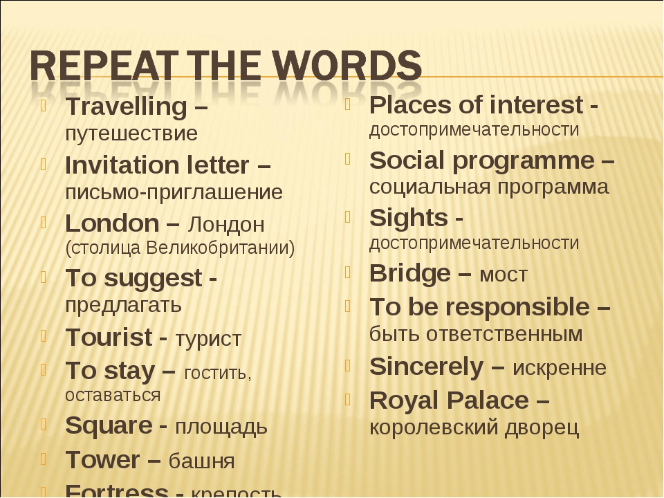 Travelling – путешествие Invitation letter – письмо-приглашение London – Лонд...