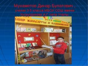 Мухаметов Динар Булатович , ученик 3 б класса МБОУ СОШ имени Хуснутдинова А.Г
