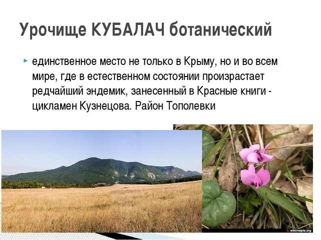 единственное место не только в Крыму, но и во всем мире, где в естественном с...