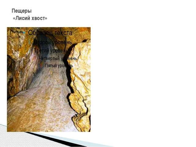 Пещеры «Лисий хвост»