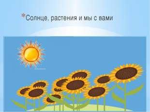Солнце, растения и мы с вами Солнце, растения и мы с вами