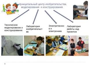 Муниципальный центр изобретательства, моделирования и конструирования. Технич