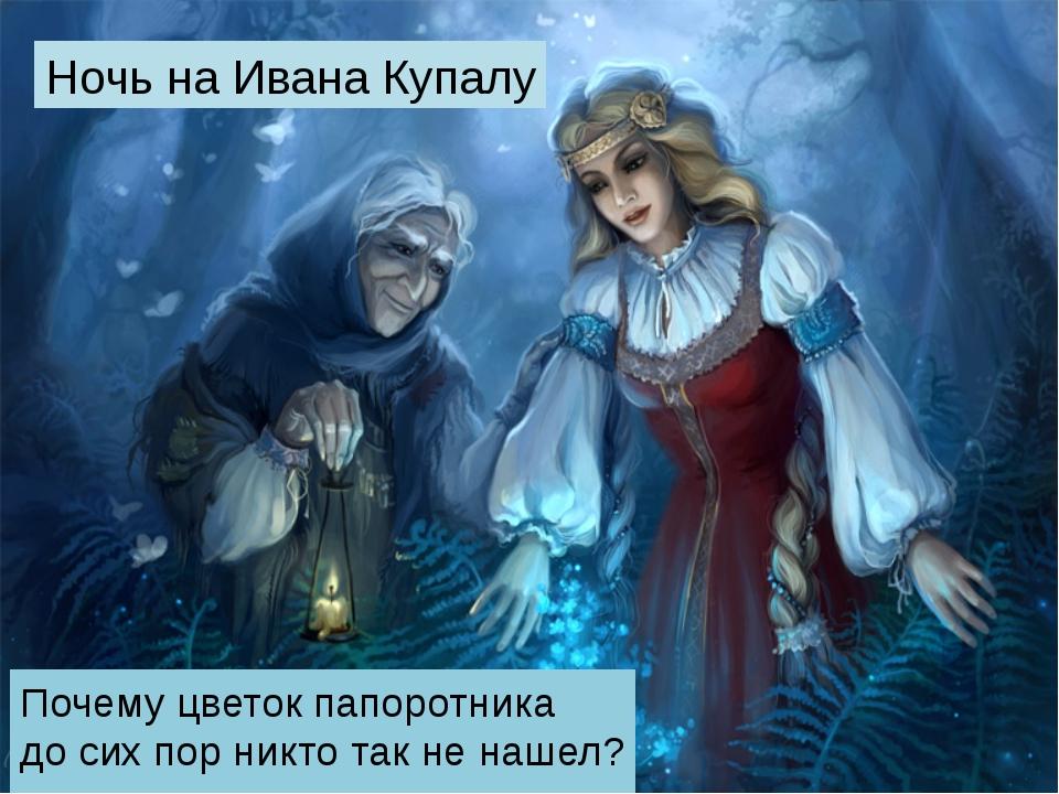 Ночь на Ивана Купалу Почему цветок папоротника до сих пор никто так не нашел?...