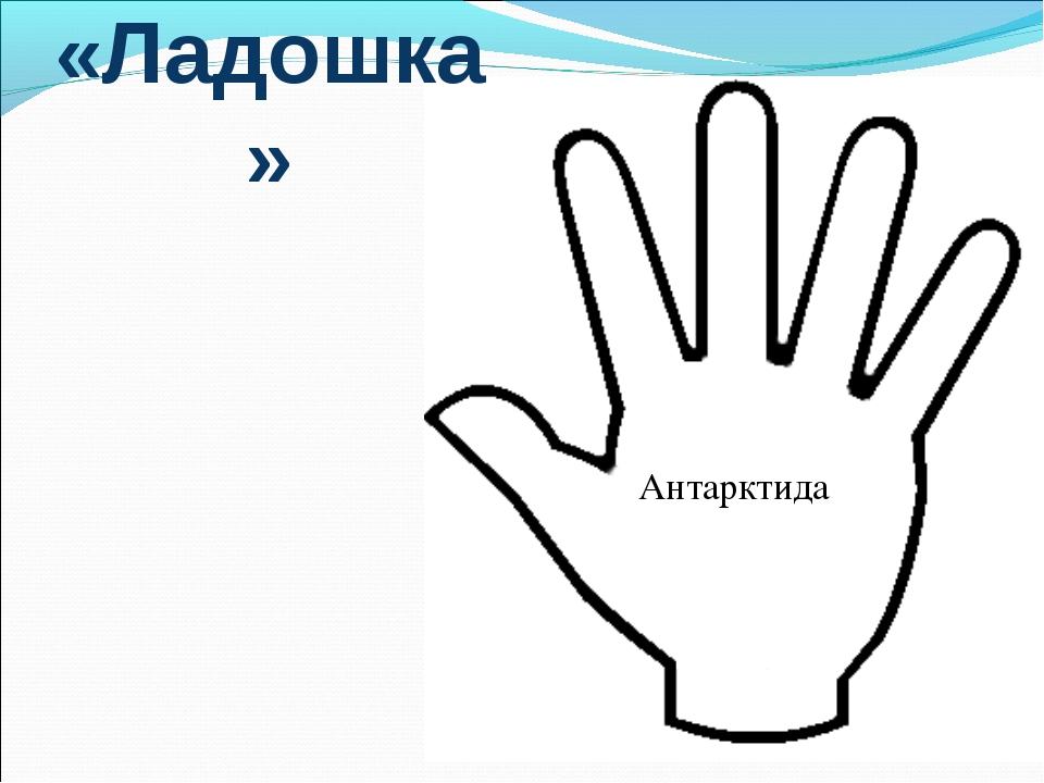 «Ладошка» Антарктида