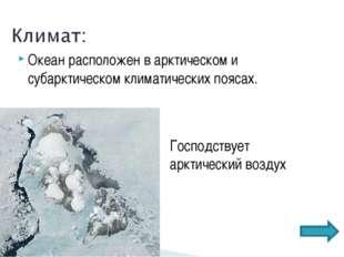 Океан расположен в арктическом и субарктическом климатических поясах. Господс