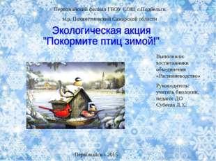 Первомайский филиал ГБОУ СОШ с.Подбельск м.р. Похвистневский Самарской област