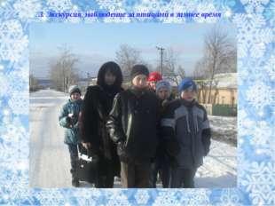 3. Экскурсия, наблюдение за птицами в зимнее время