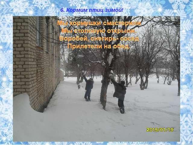 6. Кормим птиц зимой!