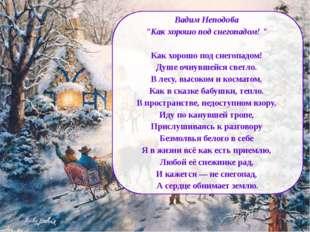 "Вадим Неподоба ""Как хорошо под снегопадом! "" Как хорошо под снегопадом! Душе"