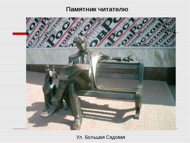 Ул. Большая Садовая Памятник читателю