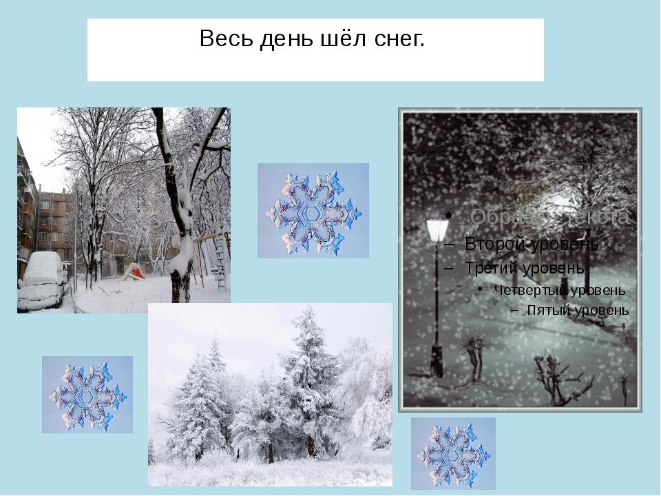 Весь день шёл снег.