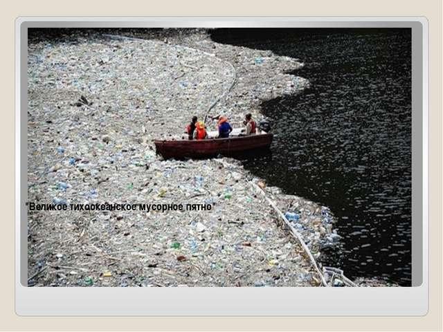 """""""Великое тихоокеанское мусорное пятно"""" """"Великое тихоокеанское мусорное пятн..."""