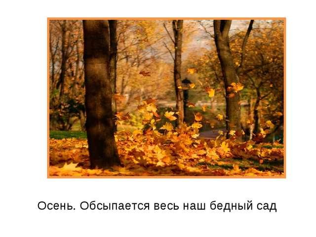 Осень. Обсыпается весь наш бедный сад