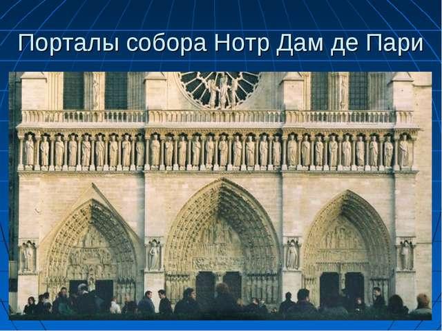Порталы собора Нотр Дам де Пари