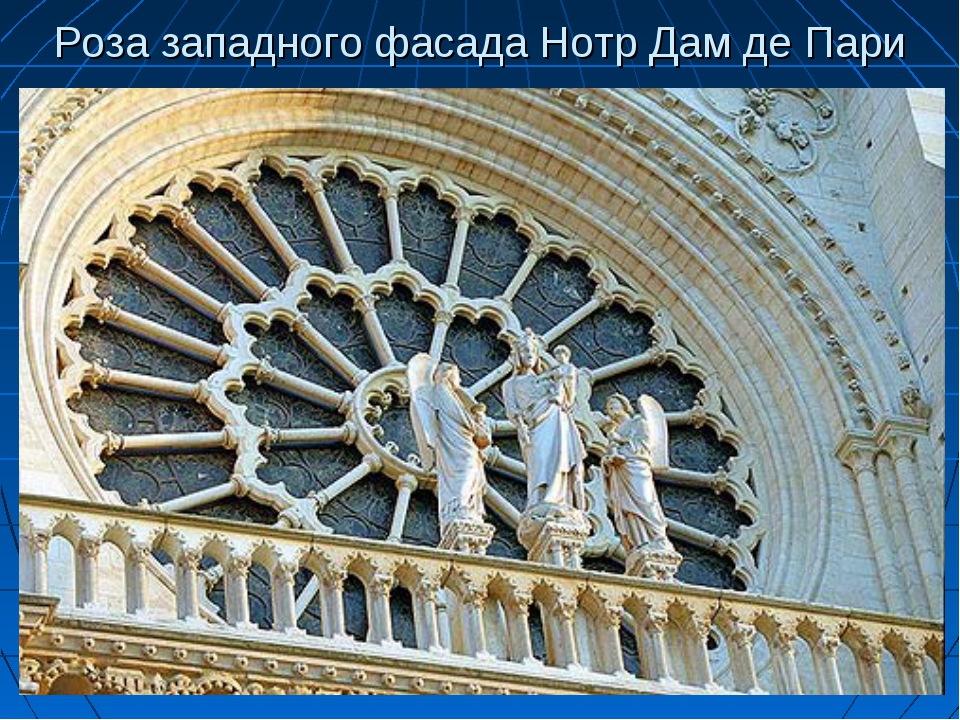 Роза западного фасада Нотр Дам де Пари