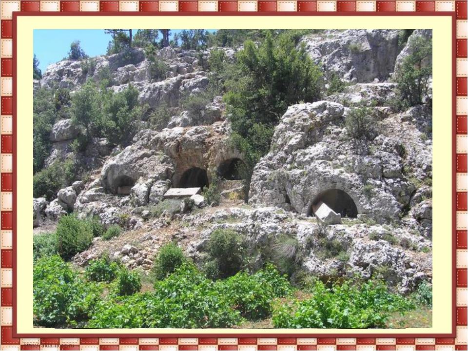 Скальные захоронения