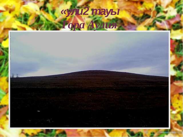 «ули2 тауы Гора Аулия