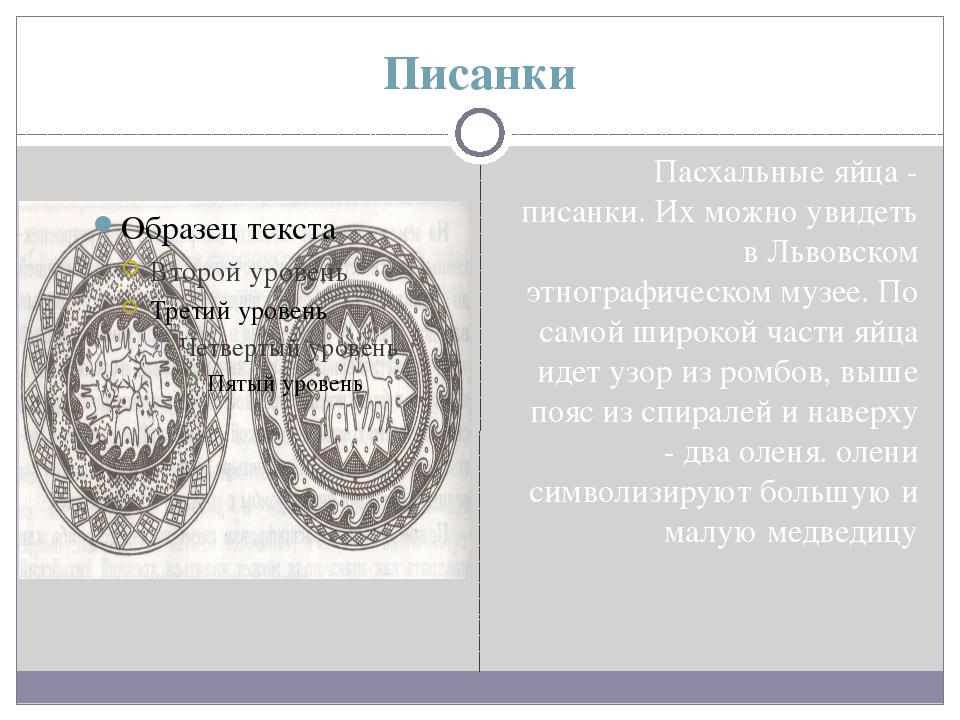 Писанки Пасхальные яйца - писанки. Их можно увидеть в Львовском этнографическ...